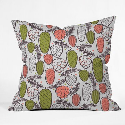 Zoe Wodarz Pine Cottage Retro Polyester Throw Pillow Size: 16 H x 16 W x 4 D