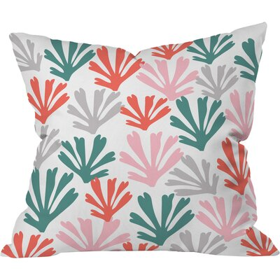 Scattered Coral Polyester Throw Pillow Size: 16 H x 16 W x 4 D