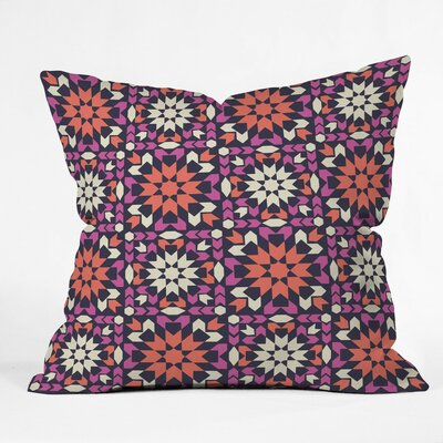 Sunset Arrow Tile Polyester Throw Pillow Size: 16 H x 16 W x 4 D