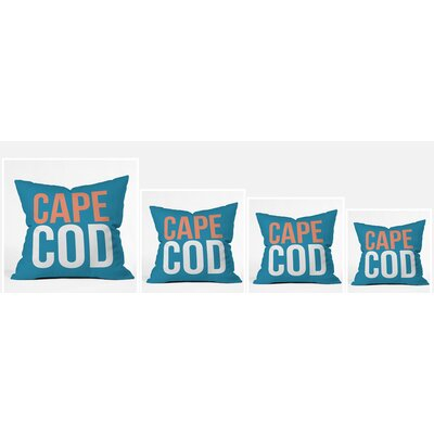 Cape Cod Polyester Throw Pillow Size: 16 H x 16 W x 4 D