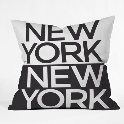 I Heart NYC Polyester Throw Pillow Size: 26 H x 26 W x 7 D