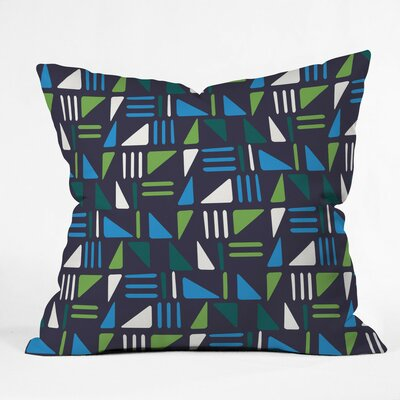 Weekend Boat Trip Polyester Throw Pillow Size: 18 H x 18 W x 5 D