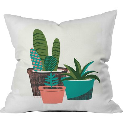 Cactus Afternoon Polyester Throw Pillow Size: 16 H x 16 W x 4 D