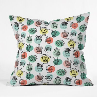 Summer Days Cactus Polyester Throw Pillow+ Size: 18 H x 18 W x 5 D