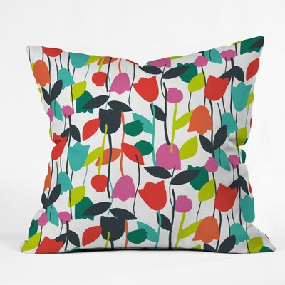 Lazy Day Floral Polyester Throw Pillow Size: 18 H x 18 W x 5 D
