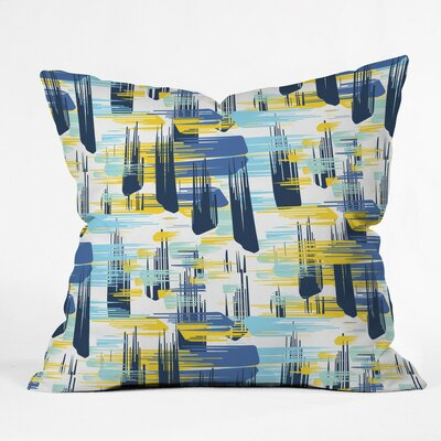 Zoe Wodarz Indigo Ikat Polyester Throw Pillow Size: 20 H x 20 W x 6 D