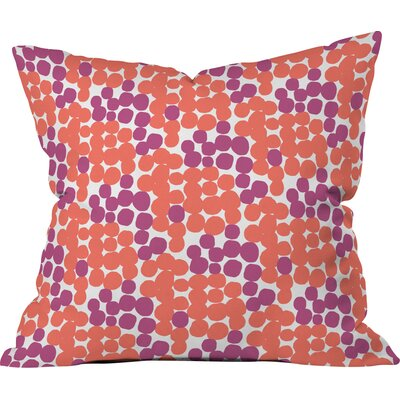 Dot Delights Polyester Throw Pillow Size: 20 H x 20 W x 6 D