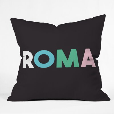 Roma Polyester Throw Pillow Size: 20 H x 20 W x 6 D