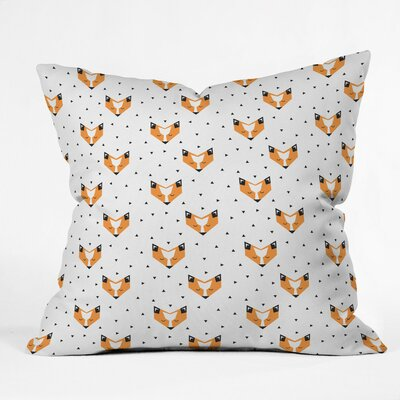 Foxy Polyester Throw Pillow Size: 20 H x 20 W x 6 D