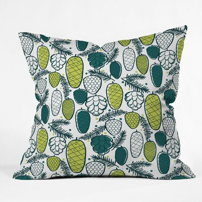 Pine Cottage Polyester Throw Pillow Size: 16 H x 16 W x 4 D