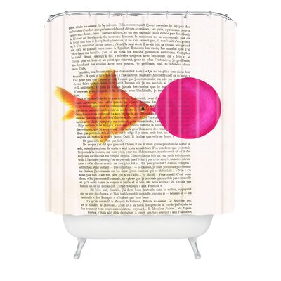 Goldfish With Bubblegum Extra Long Shower Curtain