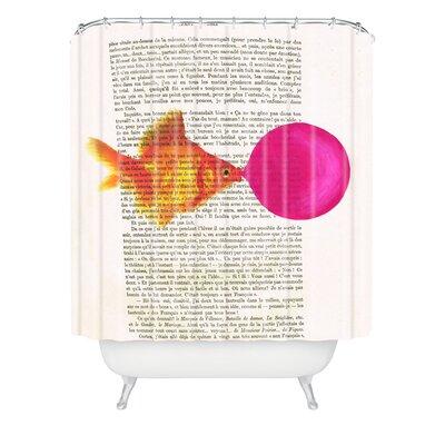 Coco de Paris Goldfish With Bubblegum Shower Curtain