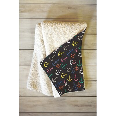 Anchored 2 U Fleece Throw Blanket Size: 60 L x 50 W