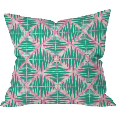 Hot Tropic Pink Outdoor Throw Pillow Size: 16 H x 16 W x 4 D