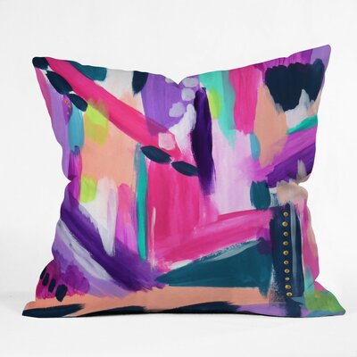 Tulip Abstract Outdoor Throw Pillow Size: 16 H x 16 W x 4 D
