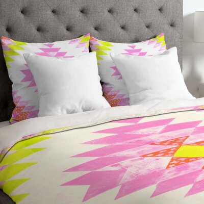 Chelsea and Coral Duvet Cover Size: King