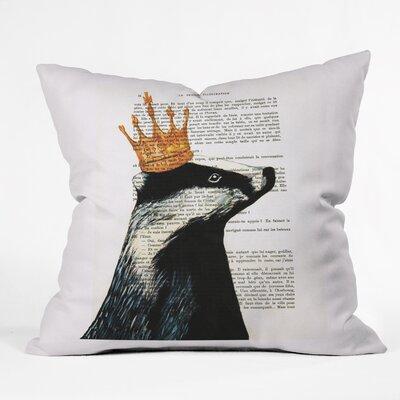Coco De Paris Throw Pillow Size: 18 H x 18 W x 5 D