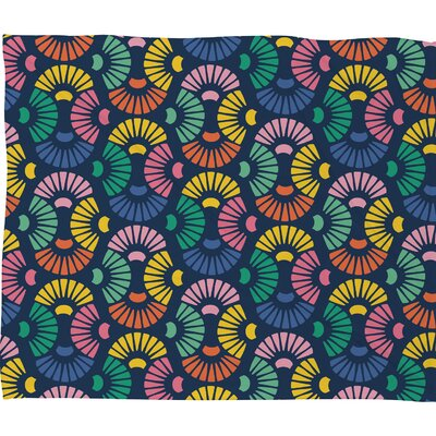 Zoe Wodarz Sea Shells Fleece Throw Blanket Size: 60 H x 50 W x 1.5 D