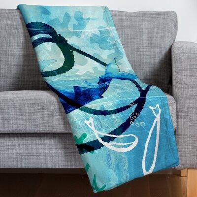 Barbara Chotiner Ocean Swirl Fleece Throw Blanket Size: 60 H x 50 W x 1.5 D
