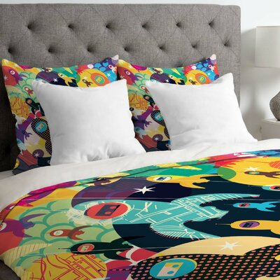 Sam Osborne Invasion Fleet Duvet Cover Size: King
