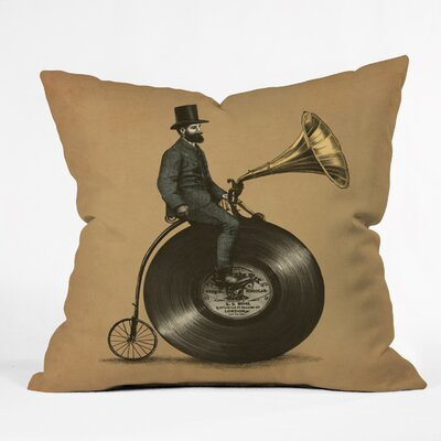 Eric Fan Indoor/Outdoor Throw Pillow Size: 16 H x 16 W x 4 D