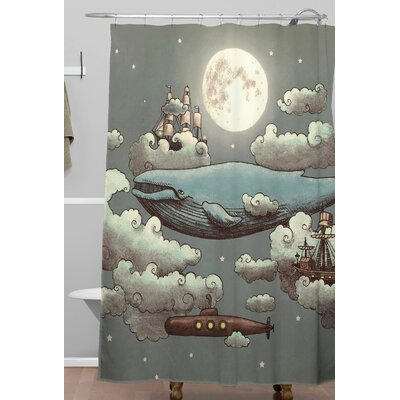 Terry Fan Ocean Meet Shower Curtain