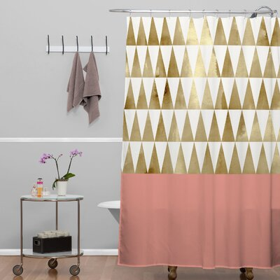 Georgiana Paraschiv Triangles Shower Curtain