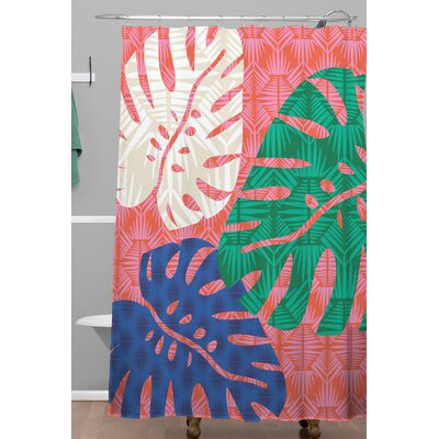 Zoe Wodarz Tropical Heatwave Shower Curtain