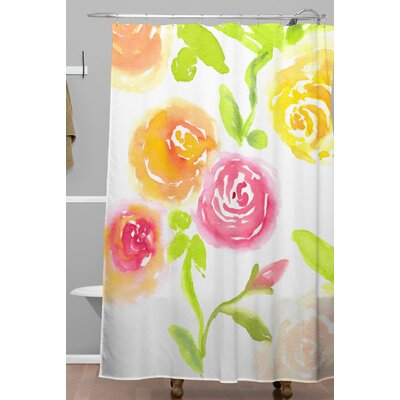 Laura Trevey Candy Colored Bloom Shower Curtain