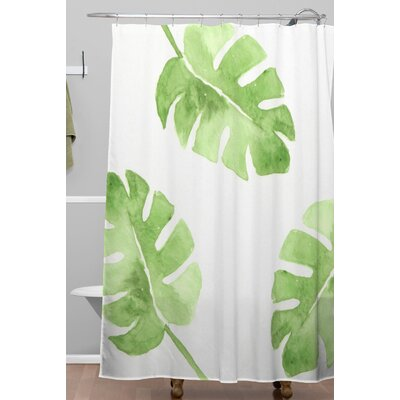 Split Leaf Shower Curtain