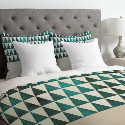 Triangle Duvet Cover Size: King