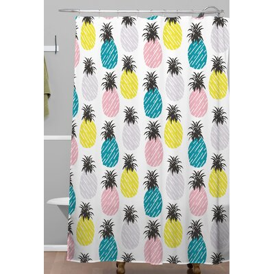 Pineapple Pastel Shower Curtain