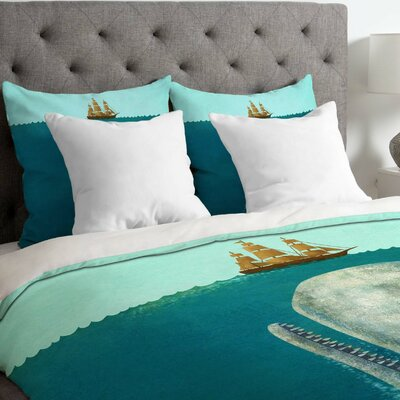 The Whale Duvet Cover Size: Queen