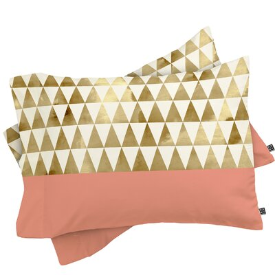 Gold Triangles Pillowcase