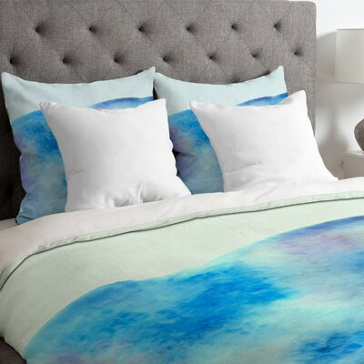 Ocean Tide Duvet Cover Size: Queen