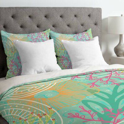 Ocean Bloom Duvet Cover Size: Twin/Twin XL
