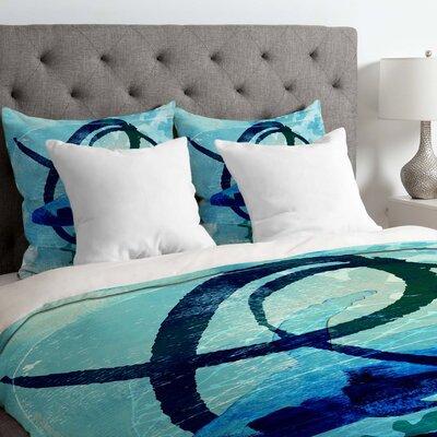 Ocean Swirl Duvet Cover Size: Queen