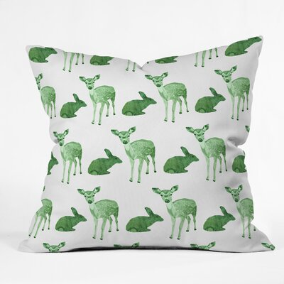 Woodland Animals Throw Pillow Size: 16 H x 16 W x 4 D