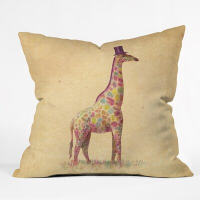Fashionable Giraffe Throw Pillow Size: 16 H x 16 W x 4 D