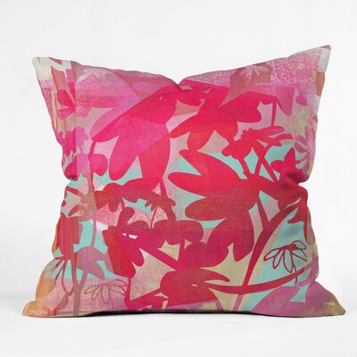 Barbara Chotiner Pinky Susan Florals Throw Pillow Size: 16 H x 16 W x 4 D