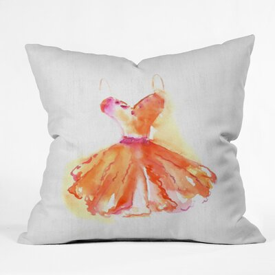 Blushing Throw Pillow Size: 18 H x 18 W x 5 D