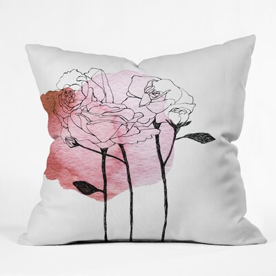 Garden Roses Indoor/Outdoor Throw Pillow Size: 18 H x 18 W x 5 D