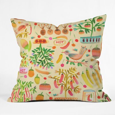 Salsa Picante Throw Pillow Size: 16 H x 16 W x 4 D