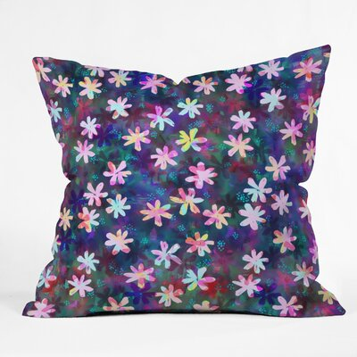 Montauk Daisy Night Throw Pillow Size: 18