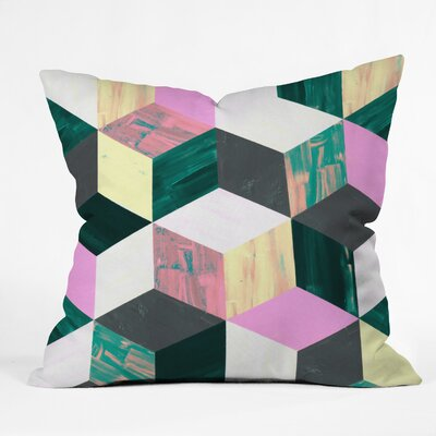 Sunday Vibes Throw Pillow Size: 16 H x 16 W x 4 D