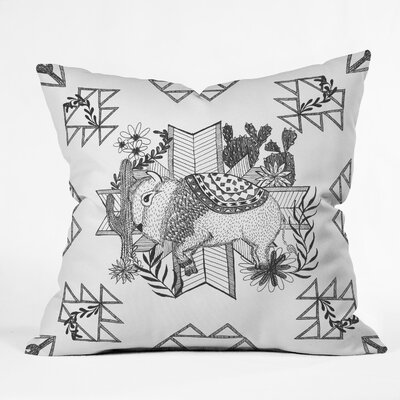 Arrlo The Buffalo Throw Pillow Size: 18
