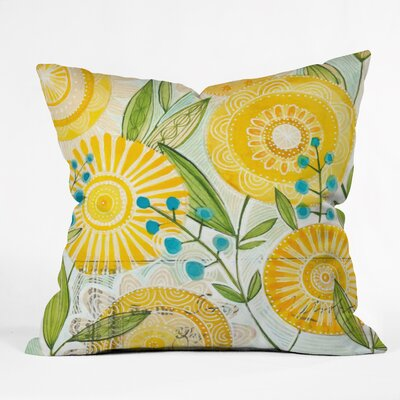 Cori Dantini Sun Burst Flowers Throw Pillow Size: Large