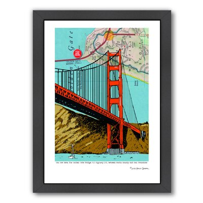 "'Golden Gate Bridge - San Francisco' Framed Graphic Art Frame Color: Black, Size: 26.5"" H x 20.5"" W x 1.5"" D EASU8664 34140574"