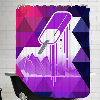 Grape Popsicle Shower Curtain