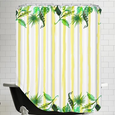 Palmskirt yellow Shower Curtain